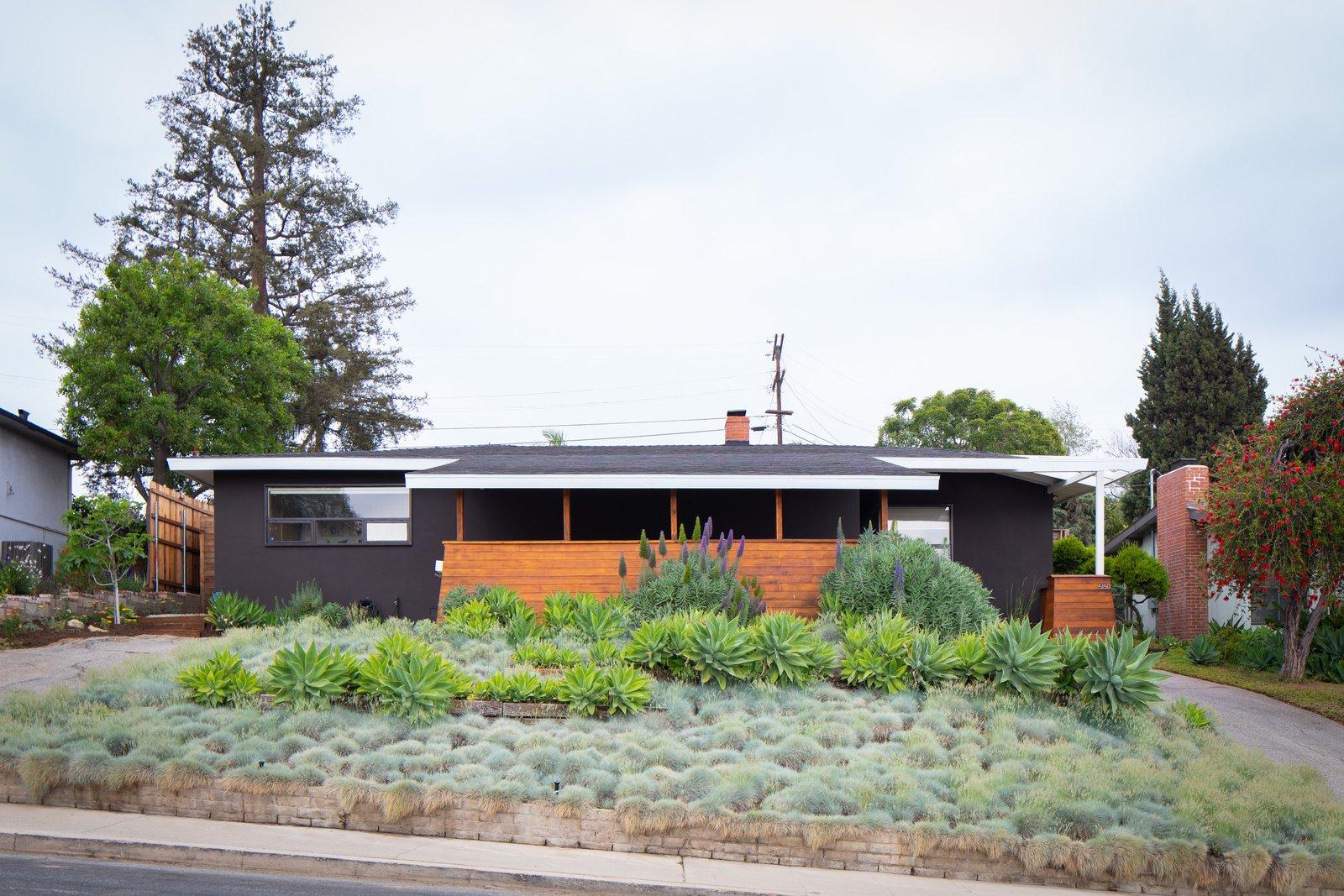 After: Monroe Workshop midcentury renovation exterior