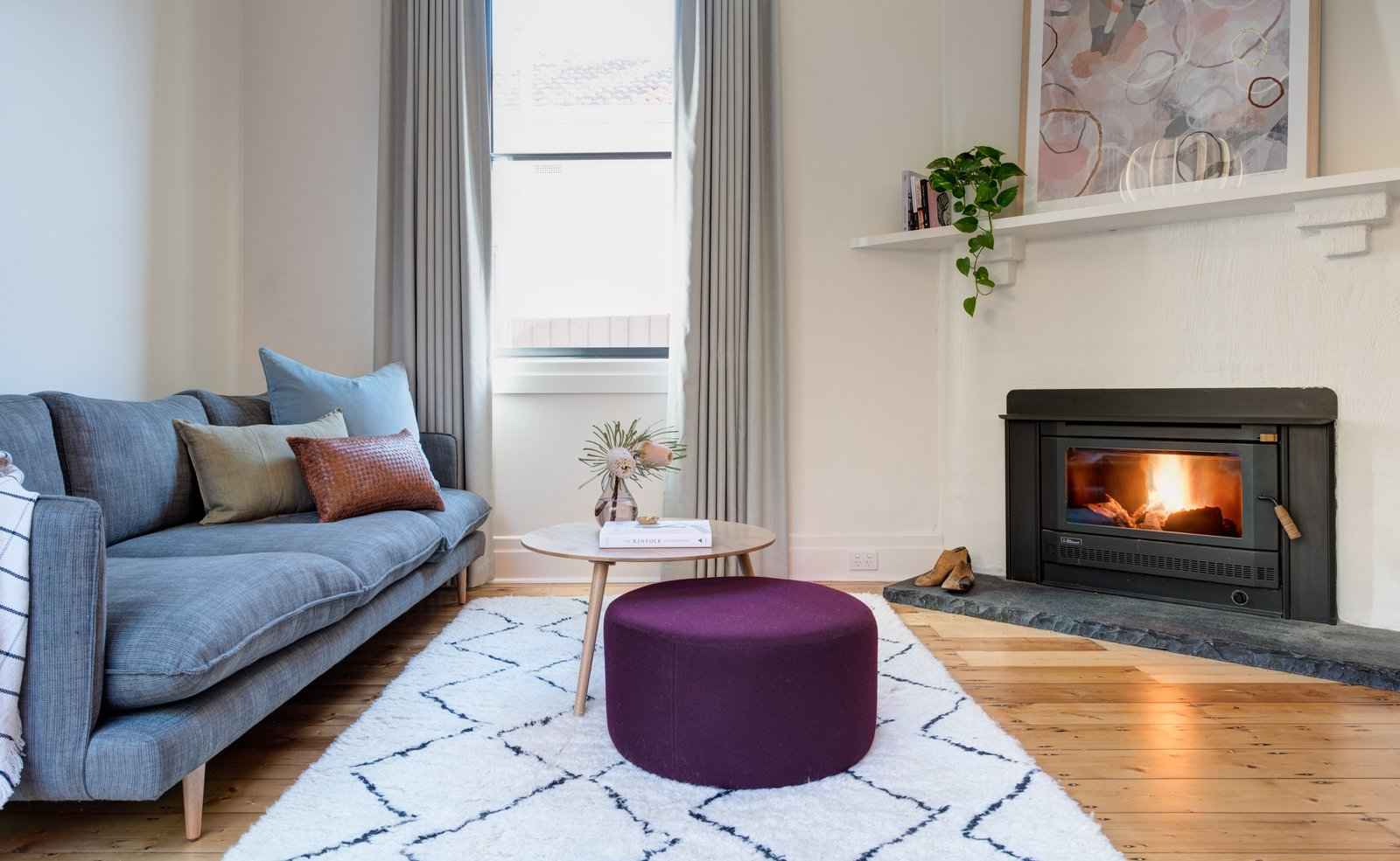 Tetris Extension living room and fireplace