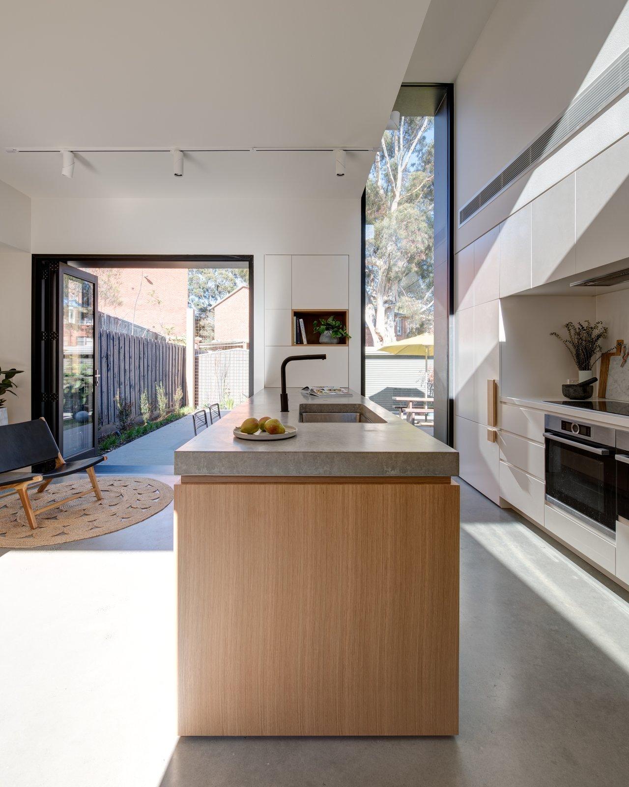 Tetris Extension concrete kitchen island