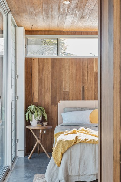 Wood details add warmth to the space.