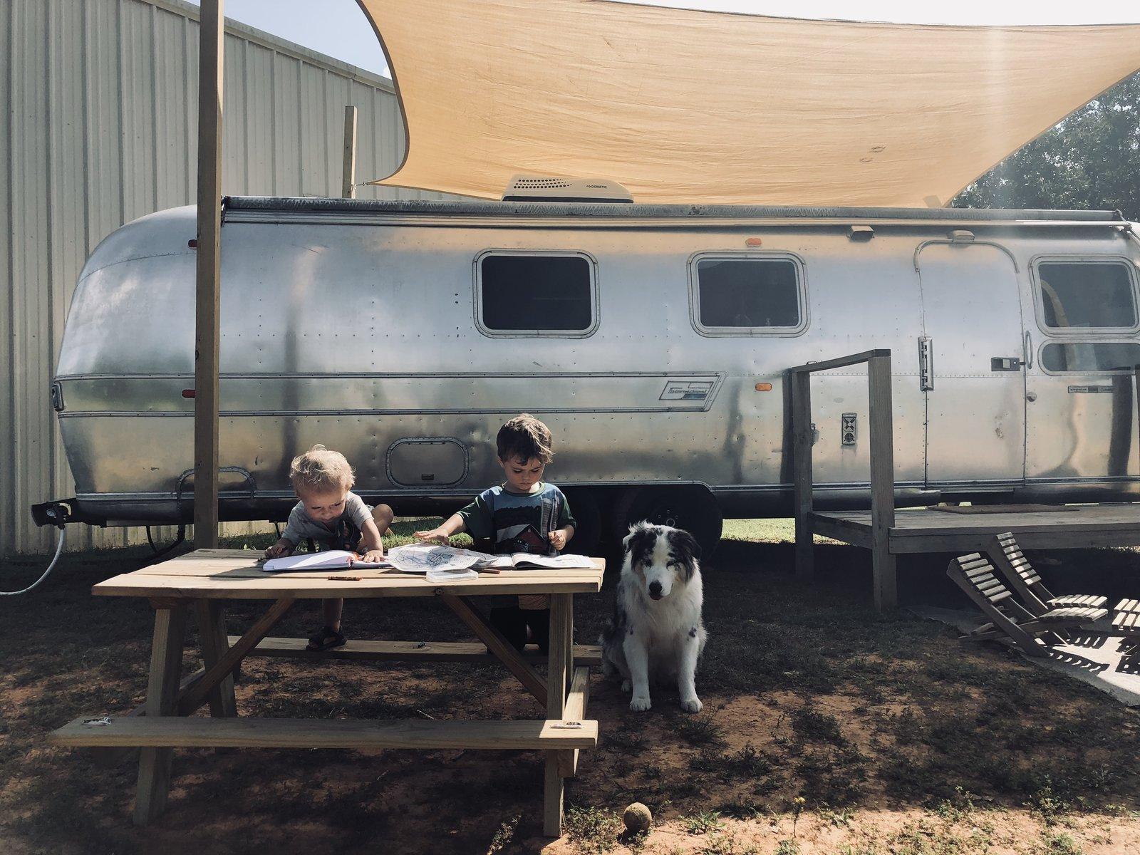 Airstream Sovereign renovation exterior