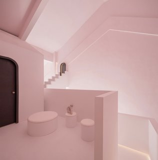 Pale pink and white lends Dream its serene and surreal atmosphere.