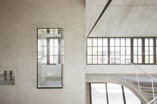 A glass box shower.