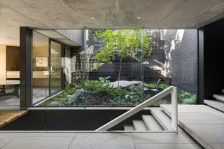 here are gardens on every level, contextualizing the home within its mountain landscape.