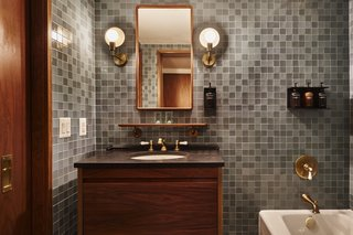 Kohler bathroom fixtures.