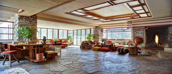 Fallingwater, main floor living area.