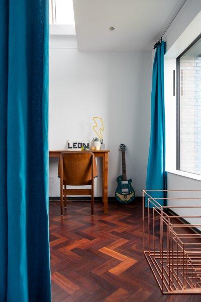 A study area is located near a window.