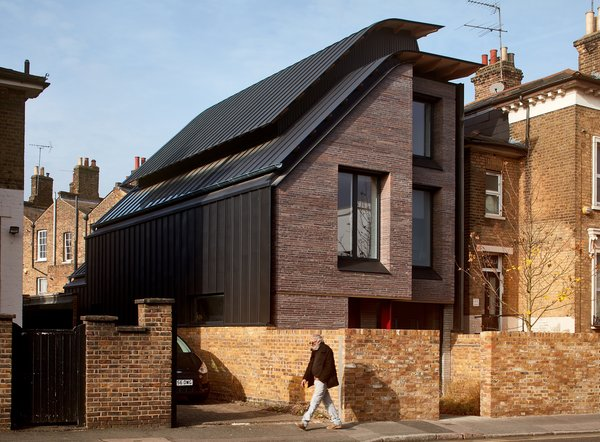 Liddicoat and Goldhill's home in the Victoria Park conservation area sports a steeply slanted roofline.