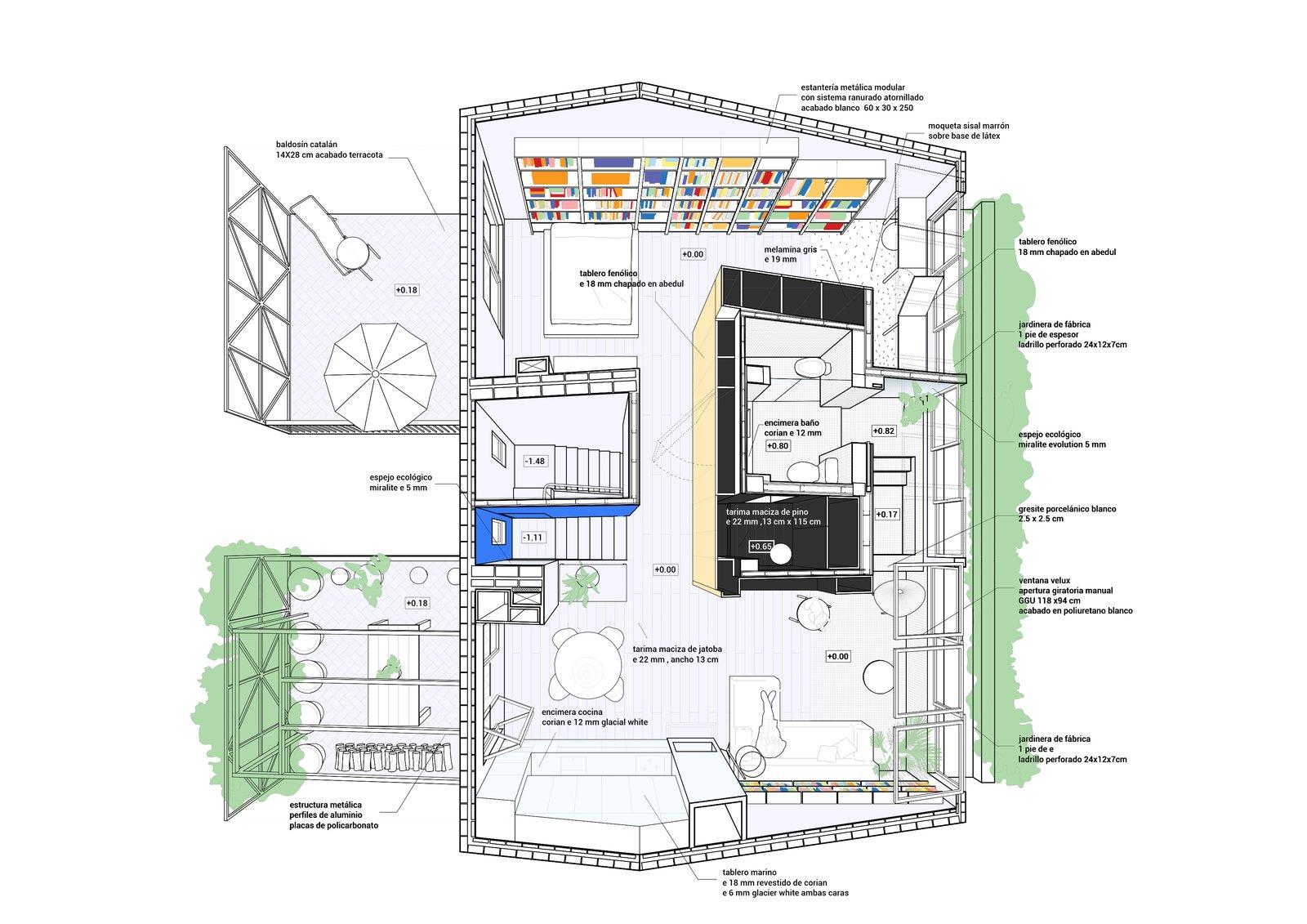G House axonometric drawing