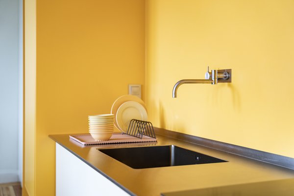 A stainless-steel countertop and sink from PURUS.