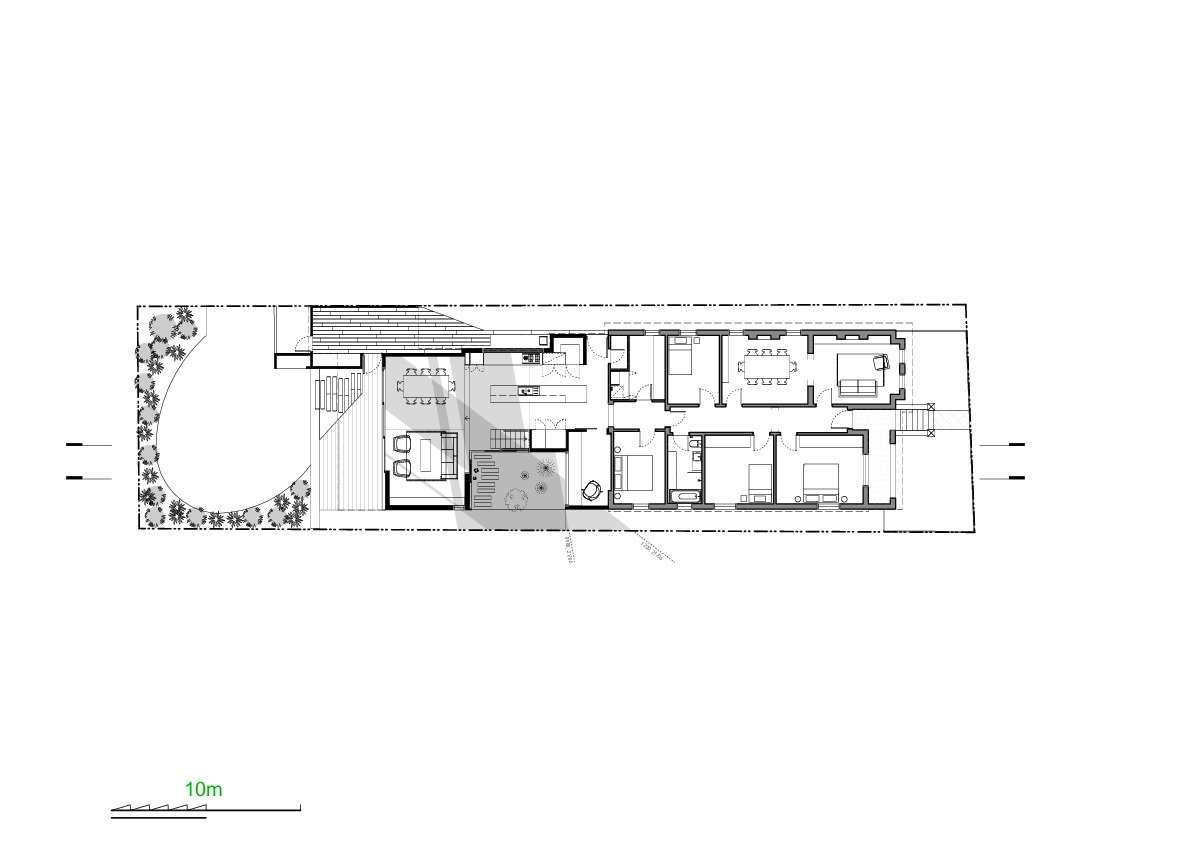 Suntrap House first floor plan drawing