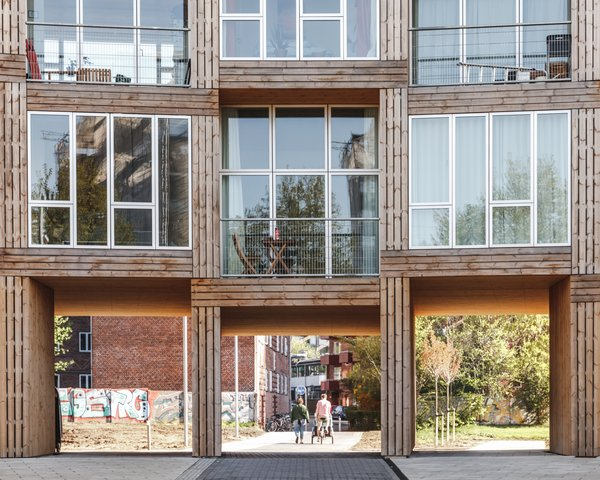The Dortheavej Residence offers affordable and attractive public housing in Copenhagen.