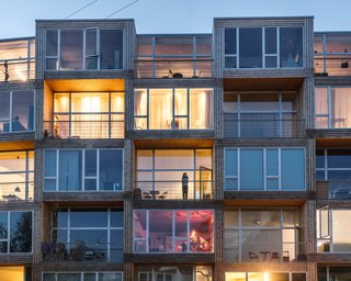 Each unit has 11.5-foot-high ceilings, expansive floor-to-ceiling windows, and outdoor terraces.