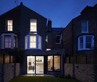 The Victorian brick terrace house is more than 100 years old.