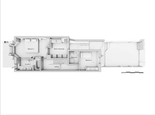 The first floor plan of the Scenario House
