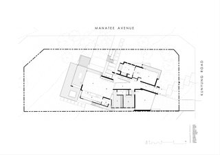 Two Angle House upper level plan