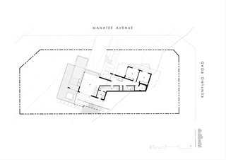 Two Angle House lower level plan