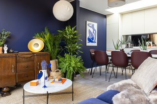 Most of the furniture comes directly from leading London–based lifestyle and furnishing brand Conran. Other items include Gubi chairs, Tala lamps, Google Home systems, and artwork sourced from a variety of established and up-and-coming artists.