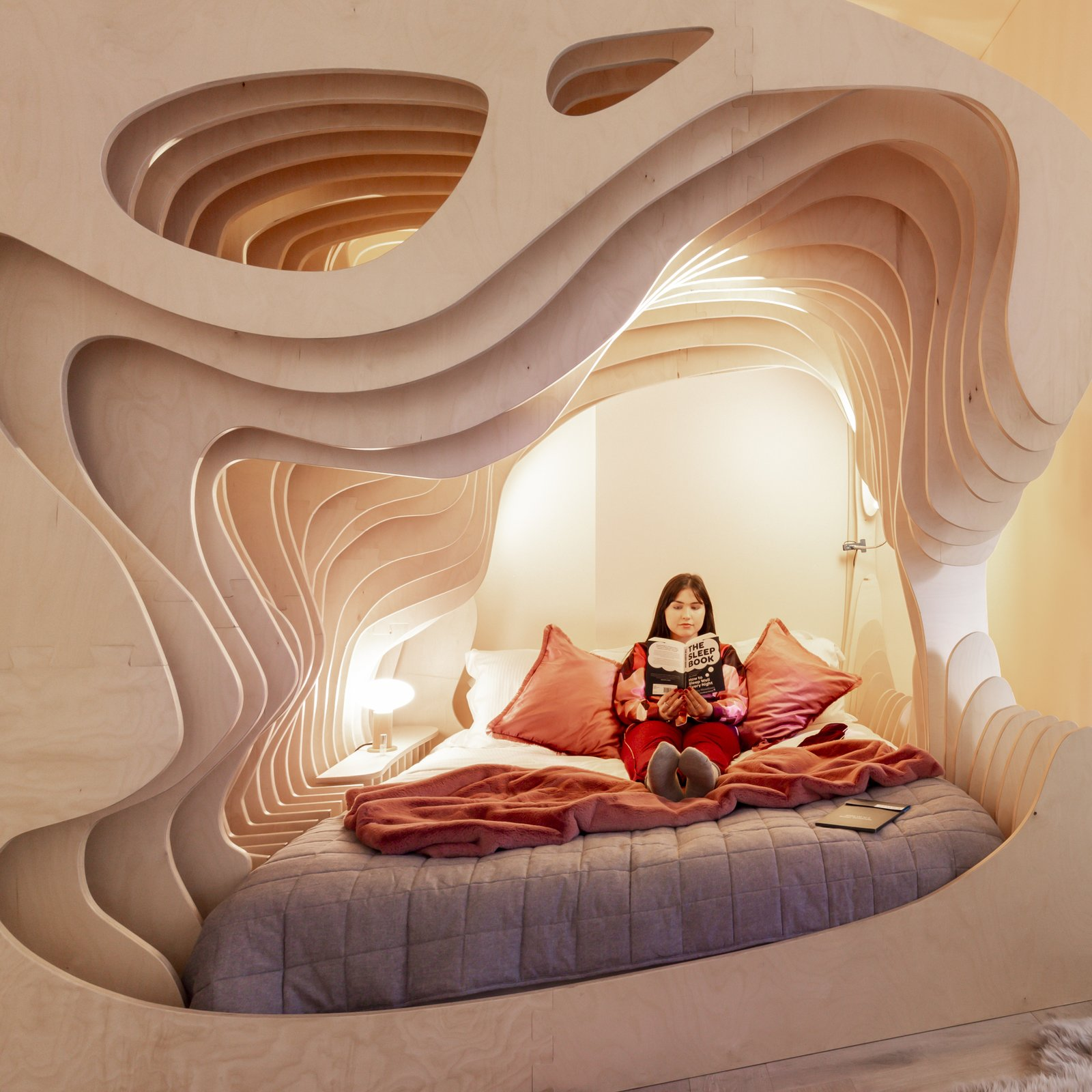Zed Rooms cave-like canopy bed