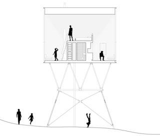 PAN Treetop Cabin sectional drawing