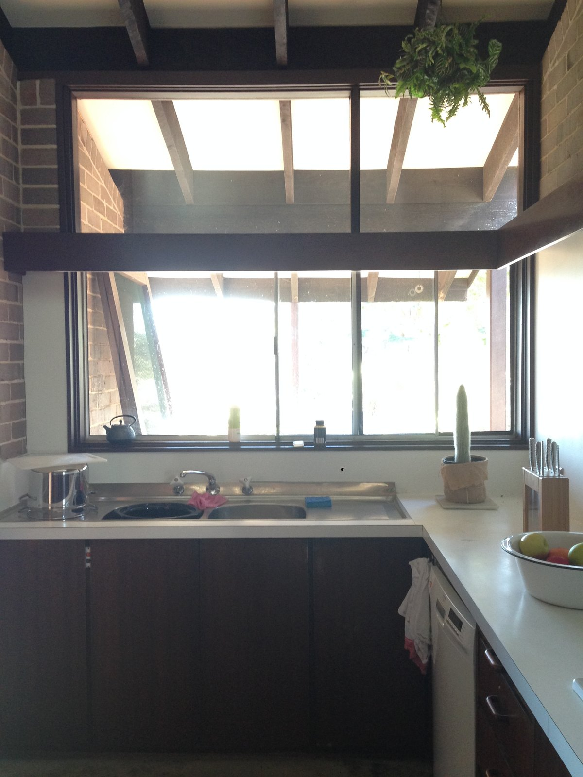Before: Polychrome House kitchen
