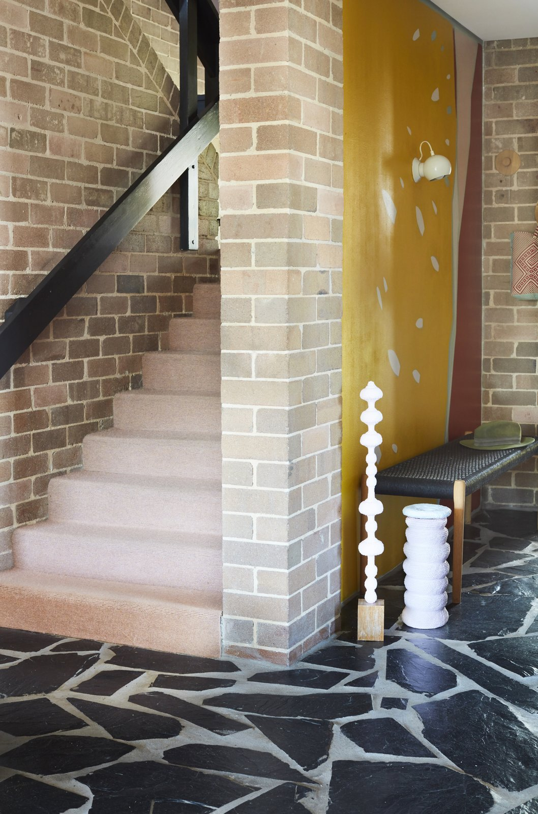 After: Polychrome House staircase