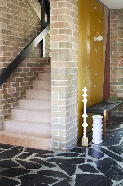 Ghoniem recarpeted the stairs.