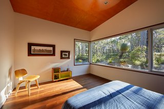 The master bedroom faces southwest, capturing the sunset.