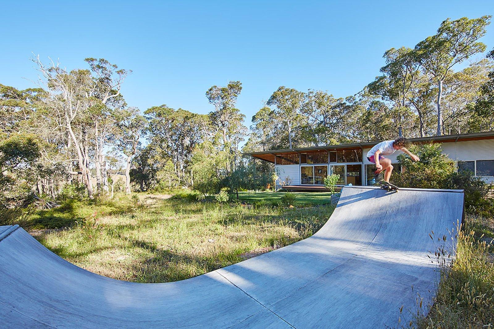 Bush House backyard half-pipe