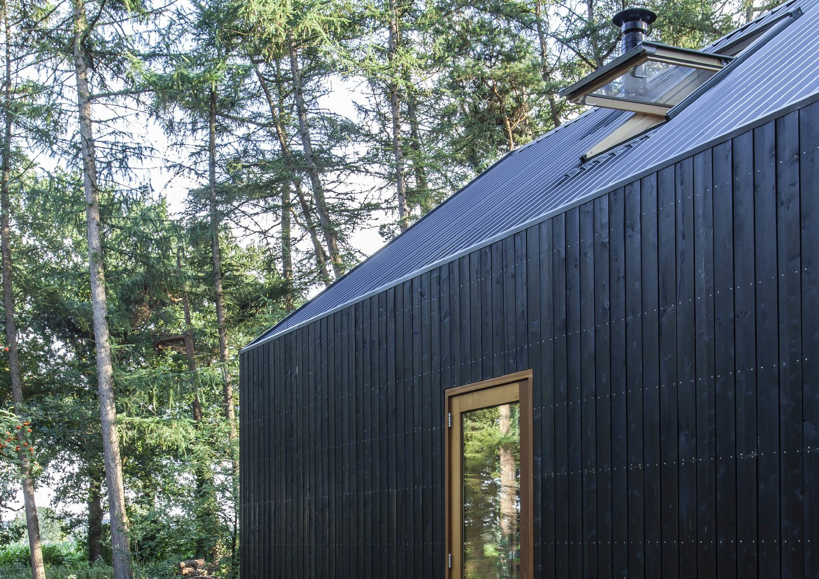 Indigo prefab cabin wood cladding