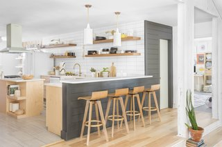 The biggest structural changes were made in the kitchen, which includes a breakfast bar.