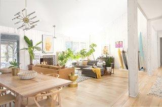The home's large, sunken living room.