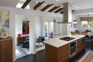 Kitchen and flexible entry space