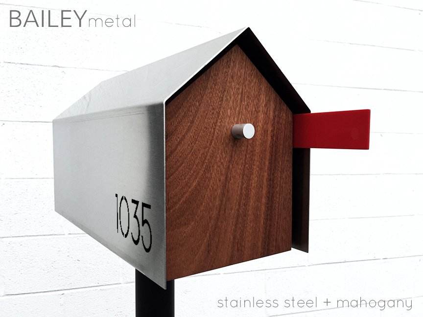 modern mailbox dwell. BAILY Modern Mailbox - Stainless Steel + Mahogany Photo 2 Of 10 In The Modern  Mailbox Dwell D
