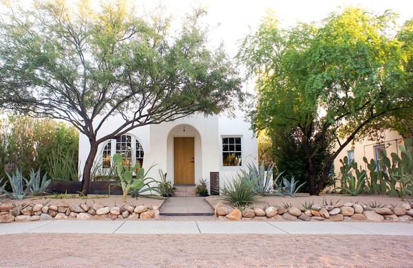 """The 1,000-square-foot bungalow sits along a quiet street near downtown Tucson and the University of Arizona. """"For us, home isn't simply about the space you live in; it's also about the sense of belonging to a particular place,"""" says Dale."""