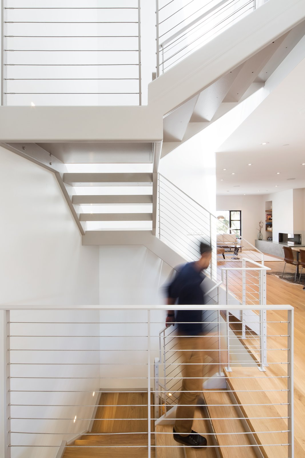 Staircase, Metal Tread, and Metal Railing Main stair  27th Street - Noe Valley by patrick perez/designpad architecture