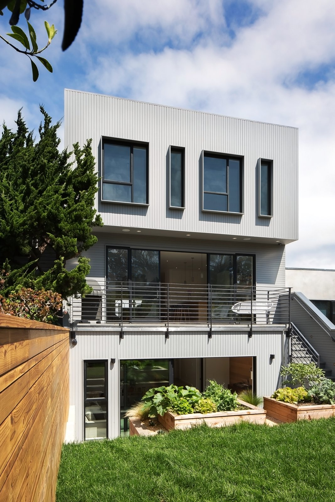 Exterior, House Building Type, and Flat RoofLine Rear facade  27th Street - Noe Valley by patrick perez/designpad architecture