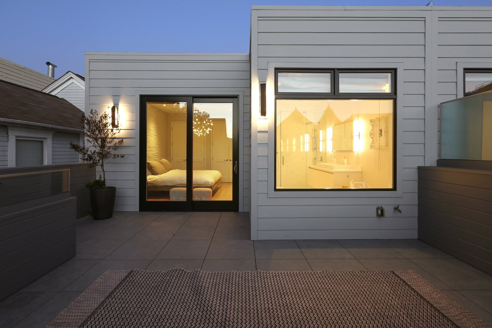 Roof deck off of master  Lower Pacific Heights by patrick perez/designpad architecture