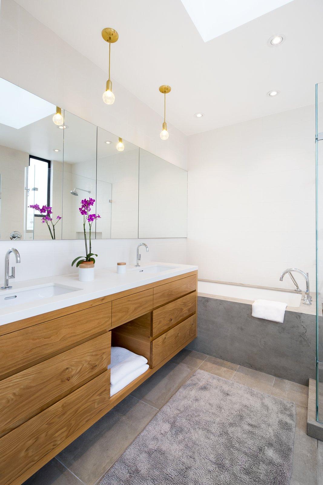 Bath Room and Concrete Floor Master bath  27th Street - Noe Valley by patrick perez/designpad architecture