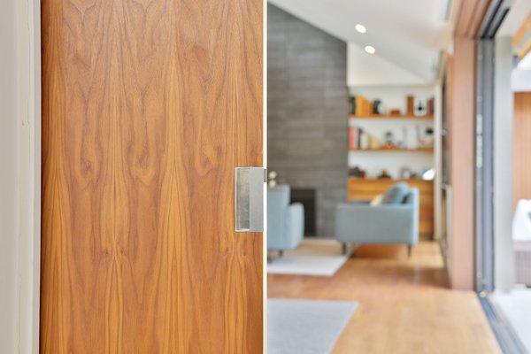 Doors, Sliding Door Type, Wood, and Interior Door detail  Portola Valley by patrick perez/designpad architecture