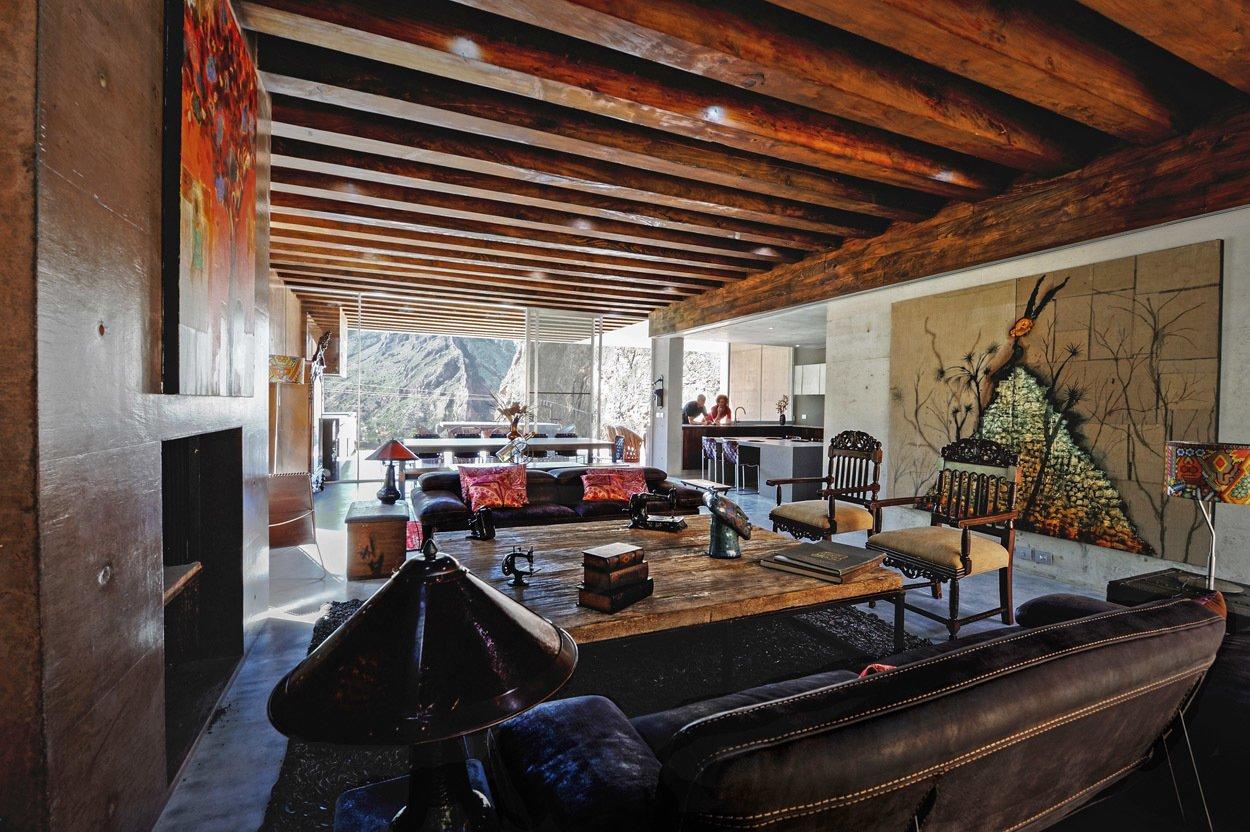 Living Room Casa Narigua - P+0 Arquitectura  Casa Narigua by P+0 Arquitectura