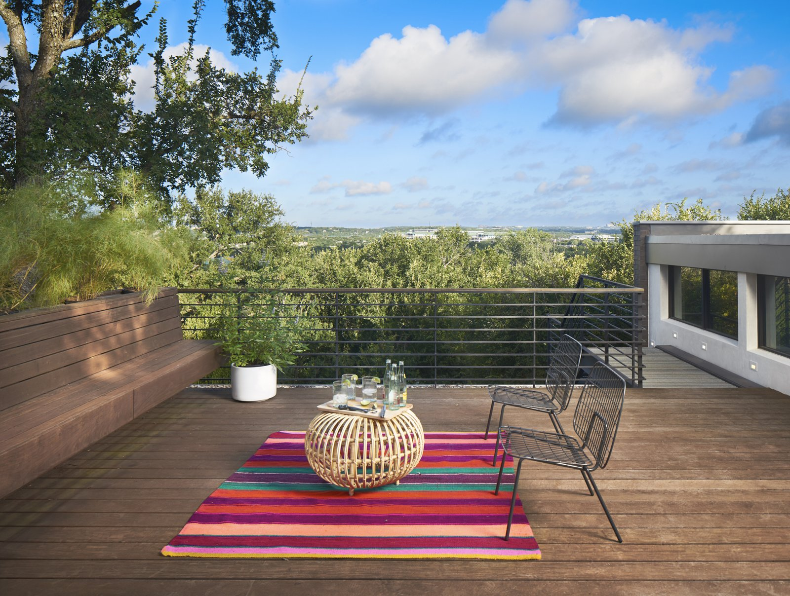 Roof deck to the view of the Austin's Greenbelt  Airole Way Residence