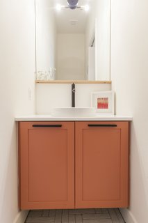 My favorite - Unit A powder room.  Simple and unique.