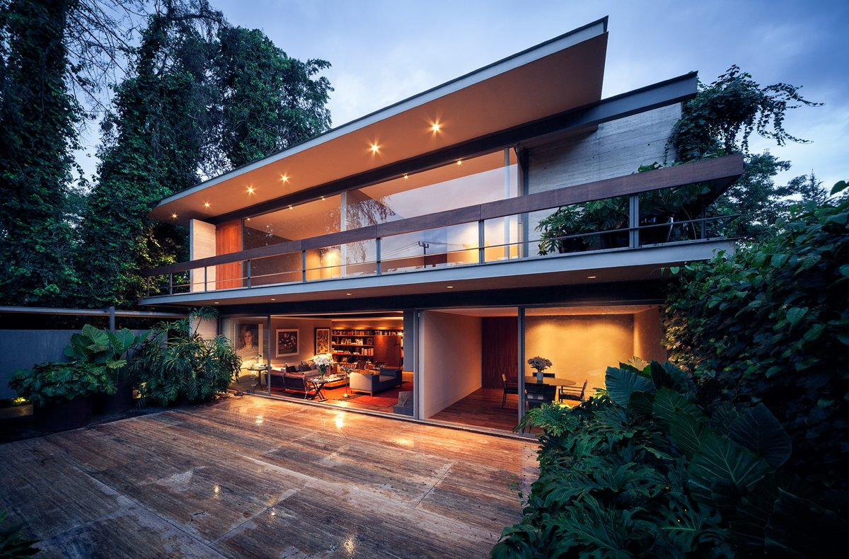 Exterior, House Building Type, Concrete Siding Material, Glass Siding Material, and Flat RoofLine SIERRA LEONA  Sierra Leona by Jose Juan Rivera Rio