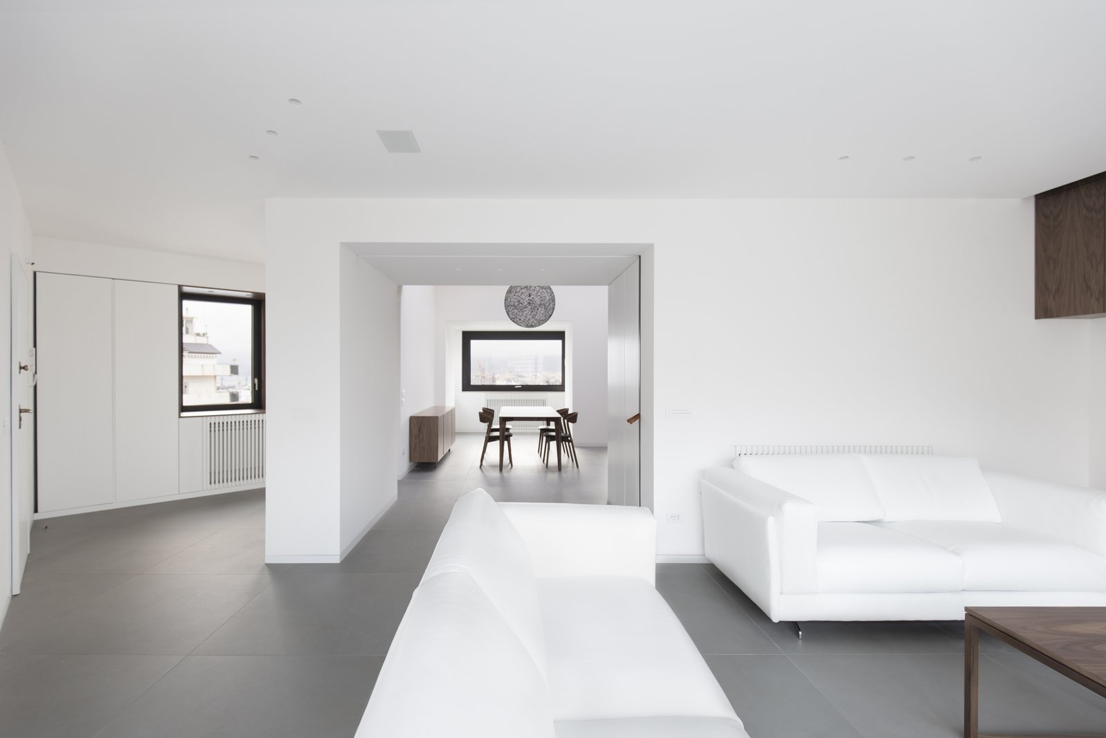 the living room the dining room can be separated through a glazed sliding door  Home A236