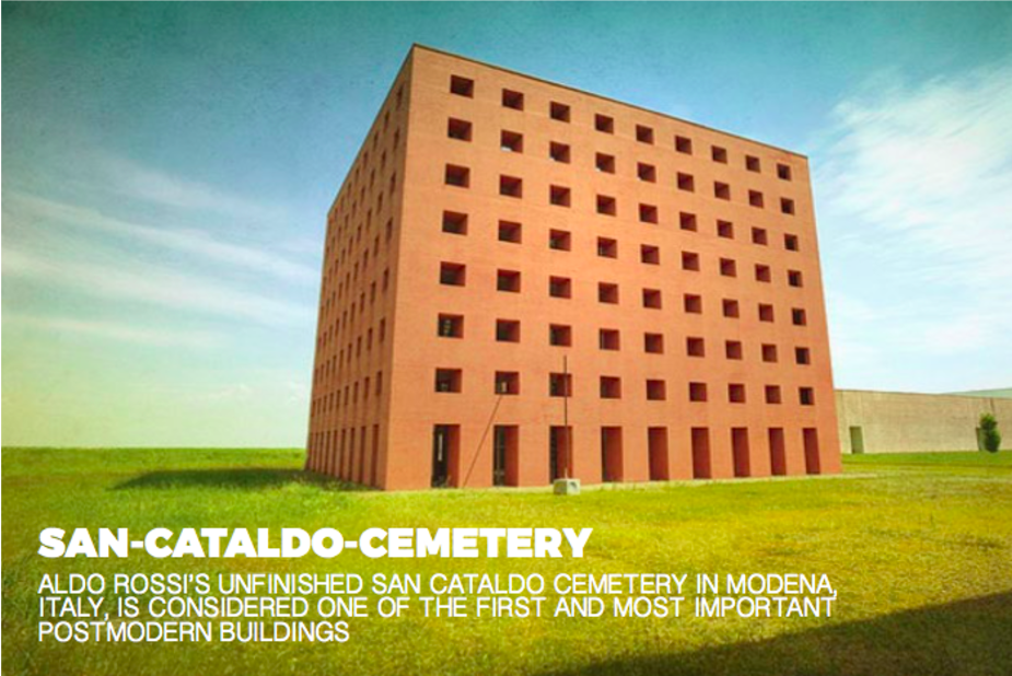 The unfinished San Cataldo Cemetery, Italy, 1971  Photo 7 of 10 in Inspiring Icons/ Aldo Rossi