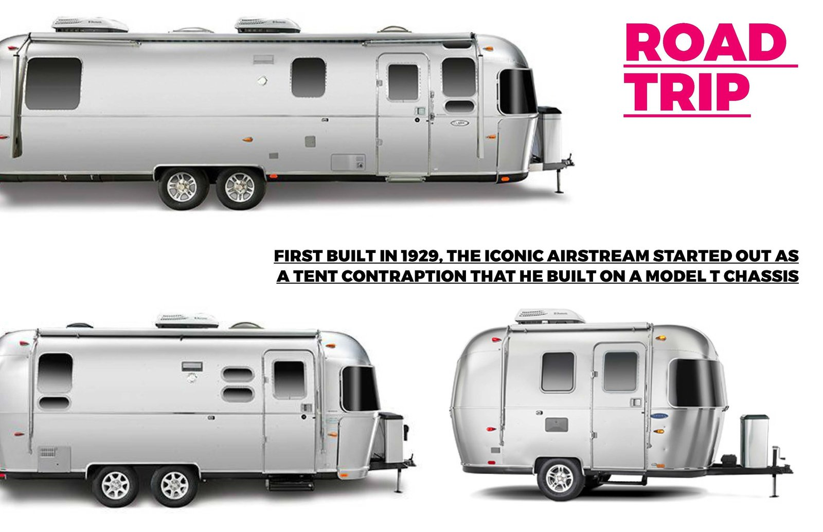 Photo's courtesy of Airstream An amazing company based in Jackson Center, Ohio. The founder of the company Wally Byam designed the first Airstream in 1929 and they still evoke stylings of the original design  Photo 3 of 7 in Road Trip