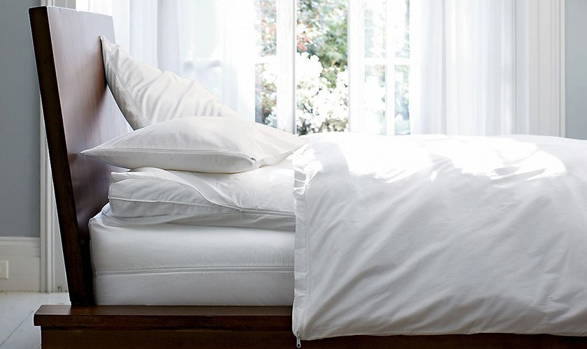 Mattress, pillow and duvet protectors reduce dust mites and guard against spills.  Photo 5 of 7 in How to Care for Your Bedding