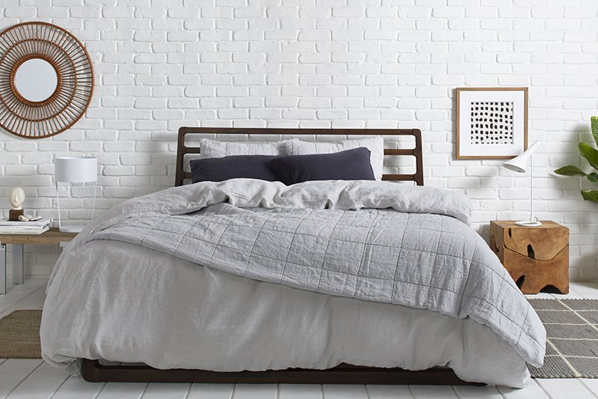 Parachute's grey bedding.  Photo 2 of 13 in The Best Places to Buy Hotel-Quality Bedding That Won't Break the Bank from How to Care for Your Bedding