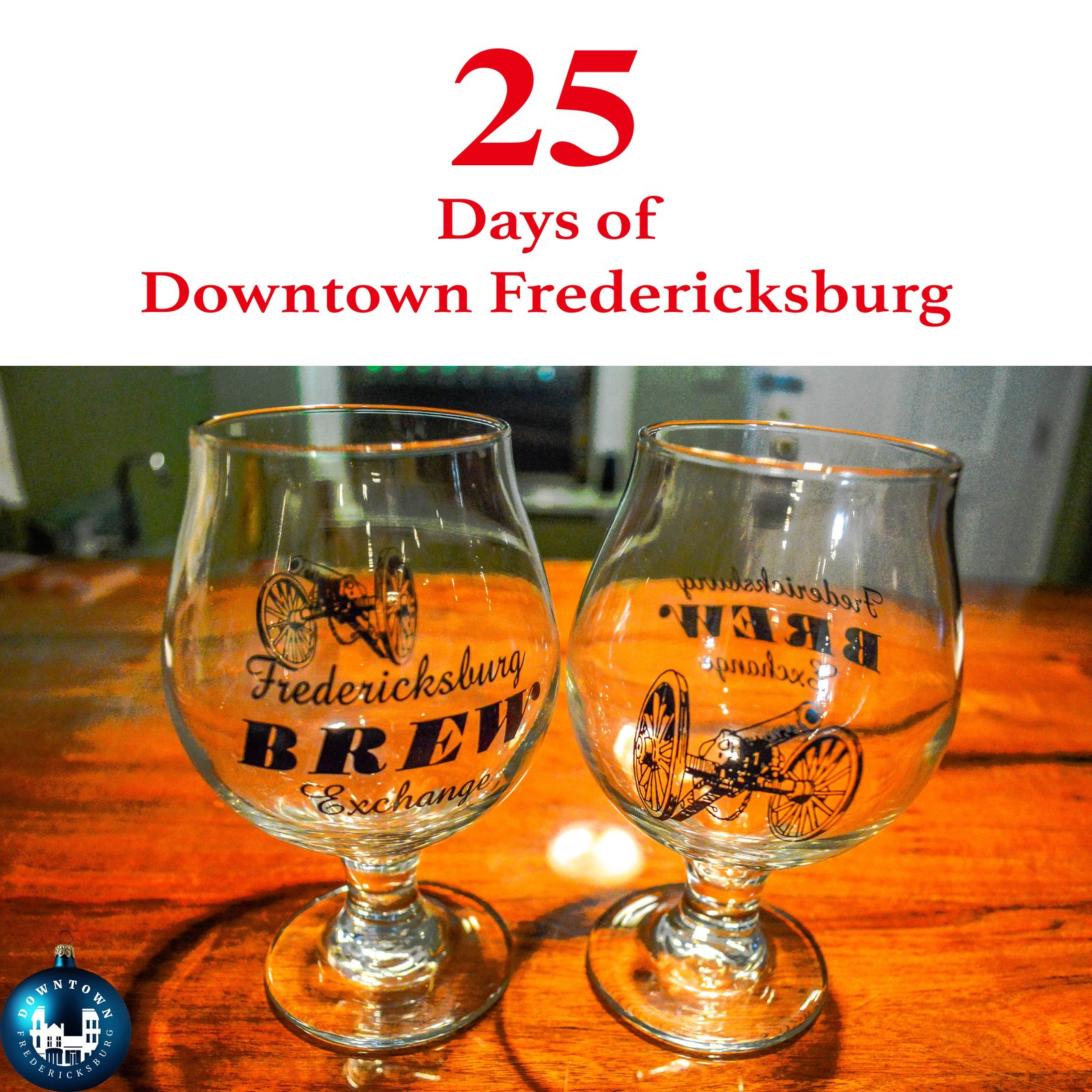 Gift Seven Merry Christmas and cheers to Fredericksburg Brew Exchange. www.facebook.com/DowntownFredericksburg  25 Days of Downtown Fredericksburg
